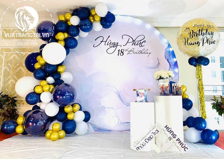 trang trí sinh nhật cho bé trai Bảo Nam