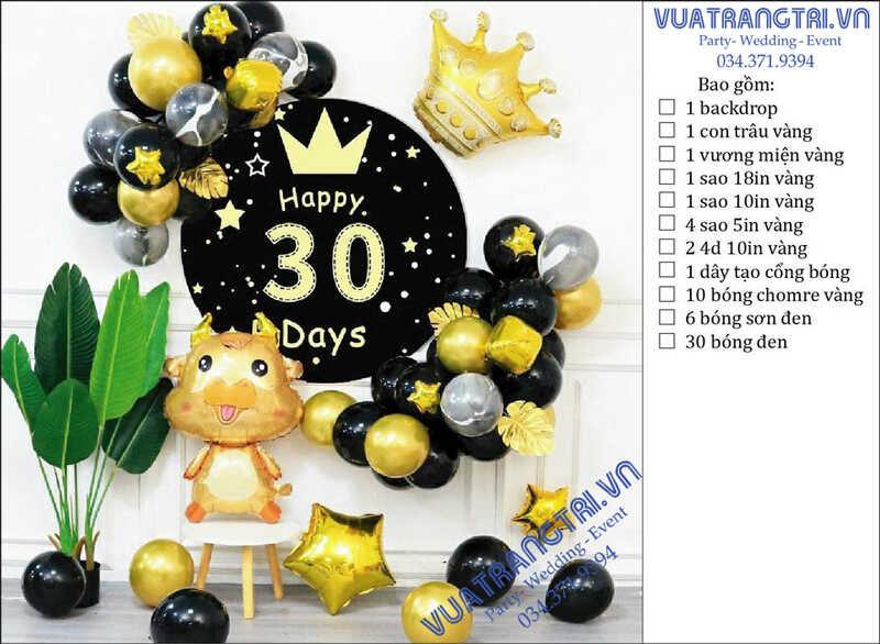 Top 100+ mẫu phụ kiện trang trí thôi nôi - sinh nhật cho bé hot năm 2021