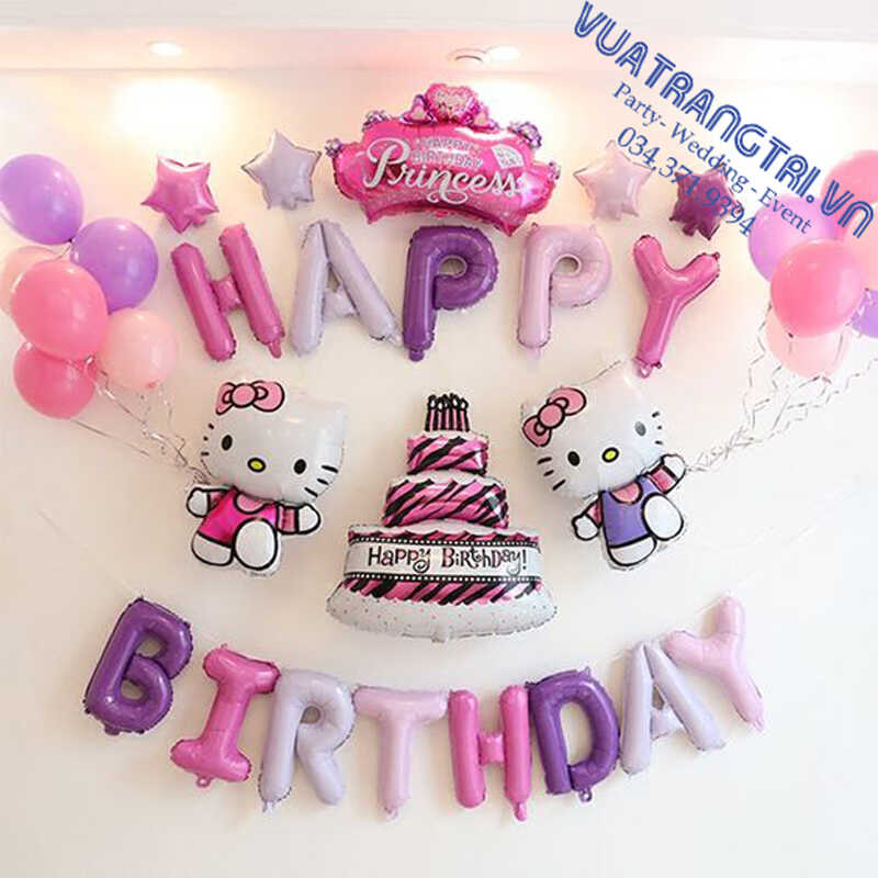Top 10+ mẫu phụ kiện trang trí thôi nôi - sinh nhật cho bé gái màu hồng