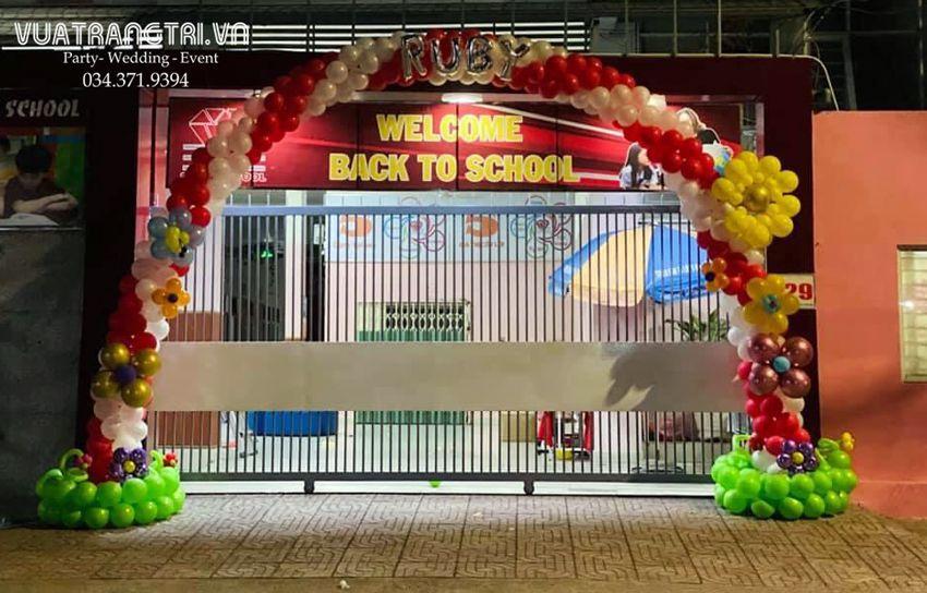 Top 50+ mẫu trang trí cổng bong bóng khai giảng mầm non hot năm 2021